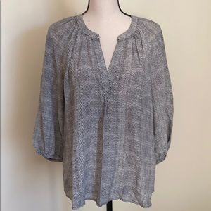 Joie 3/4 Sleeve Womens Silk Blouse Size S